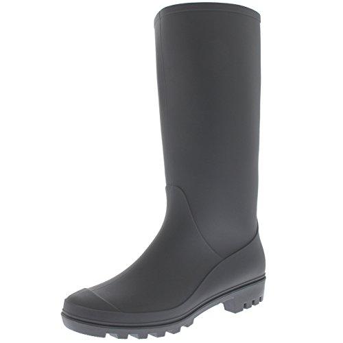 matte grey hunter rain boots - 1