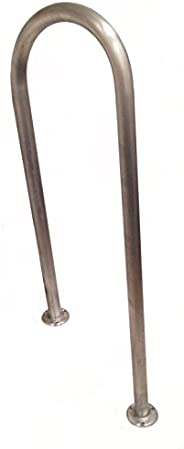 """48"""" (H) x 13"""" (W) Aluminum Handrail - for 8"""" Steps/Stairs - Safety Grab Bar - Dock, Boat, Pool"""