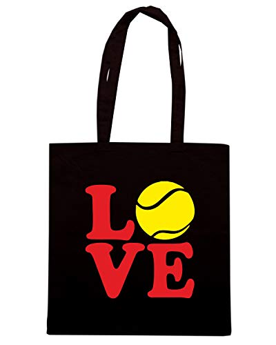 LOVE Borsa Shopper Nera OLDENG00678 TENNIS nRHRrvzI