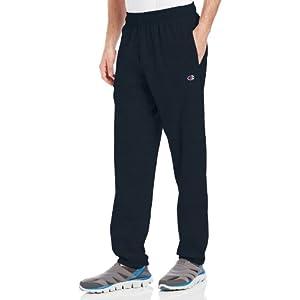 Champion Men's Closed Bottom Light Weight Jersey Sweatpant, Navy, X-Large