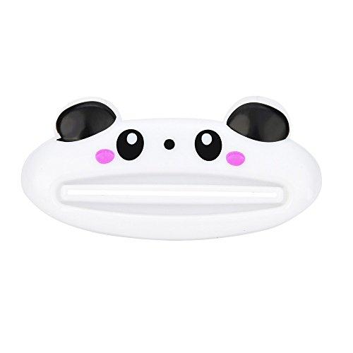 Lljin HOT Bathroom Home Tube Rolling Holder Squeezer Easy Cartoon Toothpaste Dispenser (C)