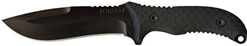 Schrade SCHF26 10.8in Stainless Steel Full Tang Fixed Blade Knife with 5.4in Kukri Point Blade and TPE Handle for Outdoor Survival, Camping and Bushcraft