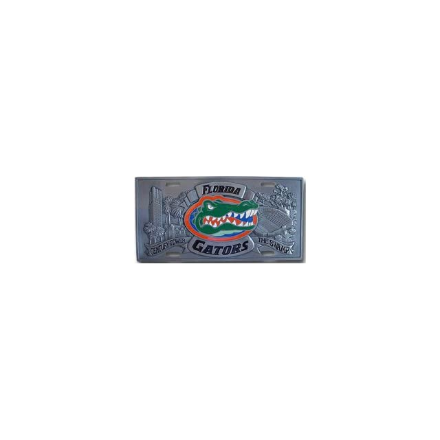 FLORIDA GATORS PEWTER CAR TAG/ LICENSE PLATE  Automotive License Plate Frames  Sports & Outdoors