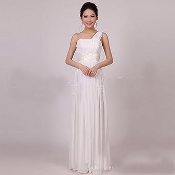 d205cb9e49727 spyman Nice The new bride bridesmaid dress long shoulder dress dress ...
