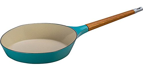 Le Creuset L2081-284T Enameled Cast Iron 11″ Raymond Loewy Skillet, Turquoise