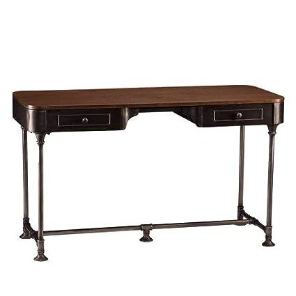 Amazoncom 2 Drawer Wood Writing Desk Large Work Surface Extra