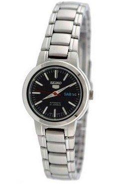 Seiko Women's SYME43 Seiko 5 Automatic Black Dial Stainless Steel Watch (Seiko Sportura Kinetic Gmt)