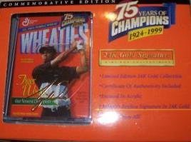 Mini Wheaties Box - 75 Years of Champions 24K Signature - Tiger (Tiger Woods Wheaties Box)
