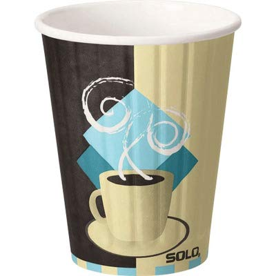SCCFSIC12J7534 - Duo Shield Insulated Paper Hot Cups/lids Combo Pack, 12 Oz, Tuscan