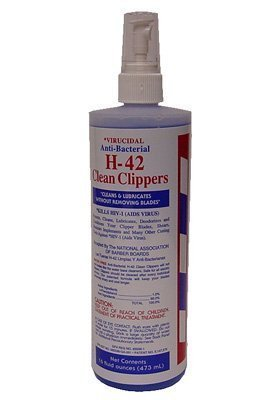 Clean Clipper Blades (H42 Clean Clippers * Virucidal Anti-bacterial * 16 Oz. by H-42)