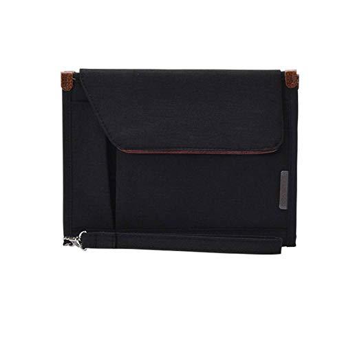Brand Women Travel Organizer Credit Card Holder Passport Package Fashion Multi-Layer Pocket Card Pack File Document Bag ()