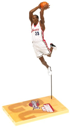 2003 - NBA - McFarlane Sportspicks - Series 5 - LeBron James #23 - Forward - Cleveland Cavaliers - Action Figure Debut - White Uniform - Out of Production - New - Collectible by NBA