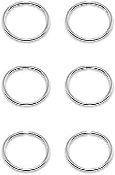 7fcdbab13 14K Gold Tiny Small Endless 10mm Thin Round Lightweight Unisex Hoop Earrings,  Set of 3