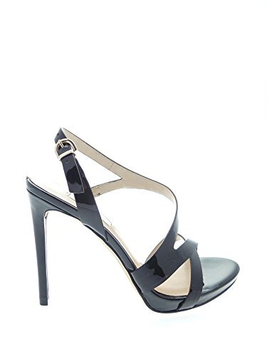 Guess Mujer Zapatos sándalo Tacon cm 11 Casiel Sandal Patent Plat.cm 1 Leather Black Negro