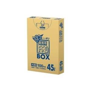 (業務用20セット) 日本サニパック 3層ゴミ袋業務用PRO 45L 半透明 100枚 B07PGCX1J5