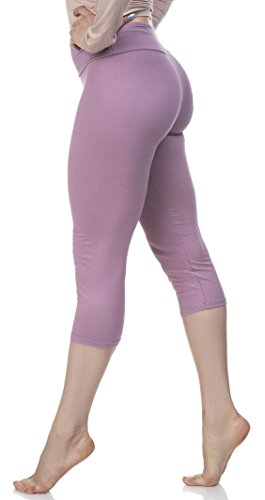 LMB Lush Moda Extra Soft Capri Leggings - Variety of Colors - Yoga Waist - Cali Lily