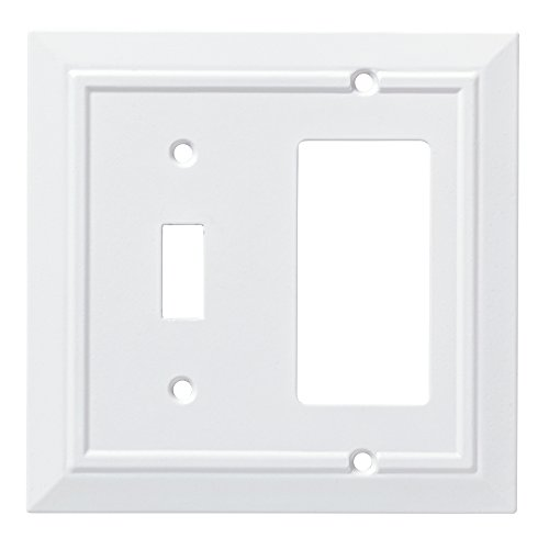 - Franklin Brass W35246-PW-C Classic Architecture Switch/Decorator Wall Plate/Switch Plate/Cover, White