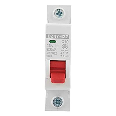 DZ47-63Z-1P 10A Circuit Breaker,DC Miniature Single Pole Circuit Breaker Leakage Protection Air Switch