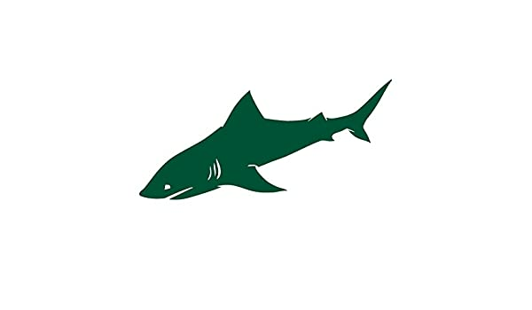 Amazon Com Shark Detailed Side View Fins And Gills Silhouette Vinyl Decal For Outdoor Use On Cars Atv Boats Windows And More Forest Green 8 Inch Kitchen Dining