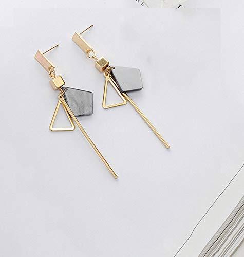 Geometric Triangle Earring Metal Simple Drop Dangle Earring Bohemian Dangling Costume Earring For Women Girl Bar Party Fashion Jewelry -