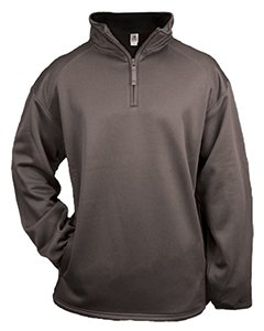 Badger Men's Comfortable 1/4 Zip Fleece Pullover, Graphite, Large