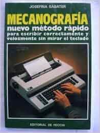 Mecanografia, [Paperback] [Jan 01, 1994] Sabater, Josefina Paperback – 1994