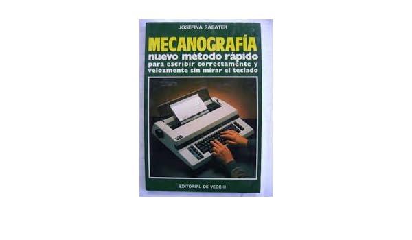 Mecanografia, [Paperback] [Jan 01, 1994] Sabater, Josefina: 9788431500757: Amazon.com: Books