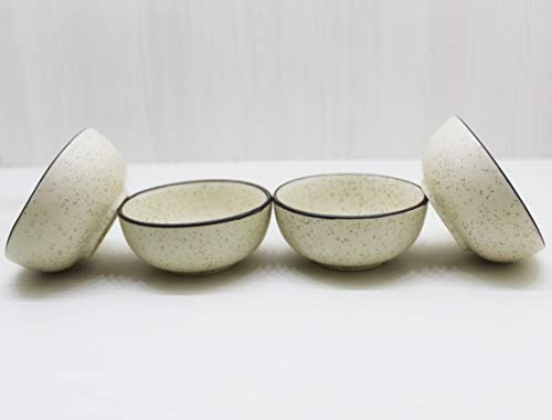 Your Style Lead Free, Ceramic Serving bowl/ Cereal Bowls  Set of 4 piece  Off white