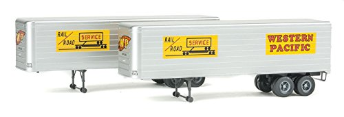 Walthers HO Scale 35' Fluted-Side Truck Trailers 2-Pack for sale  Delivered anywhere in USA