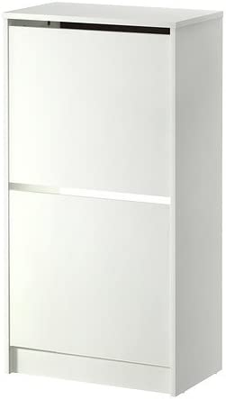 Ikea Bissa Meuble A Chaussures Avec 2 Compartiments Blanc 49 X 93 Cm Amazon Fr Cuisine Maison