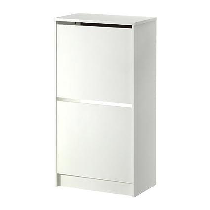 Ikea Bissa Armario Para Zapatos Con 2 Compartimentos Blanco 49