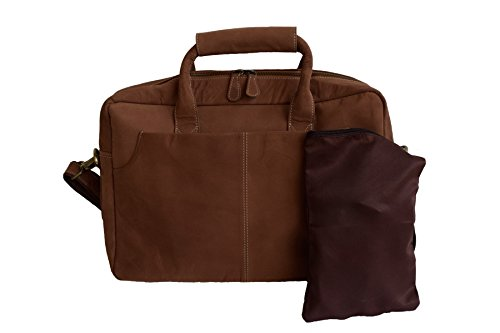 Lakecity Arts Genuine Leather Bag House Brown Laptop Briefcase Bag (Light (Light Brown Leather Bag)
