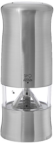 Peugeot 24079 Zeli Electric 5.9 Inch Pepper Mill, Brushed Chrome