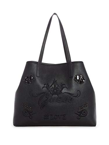 Embroidered Black Tote GUESS Set Vikky UwYHxH