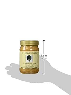 Zinke Orchards Crunchy Almond Butter (3 Pack) 16oz Jars by Zinke Orchards Inc.
