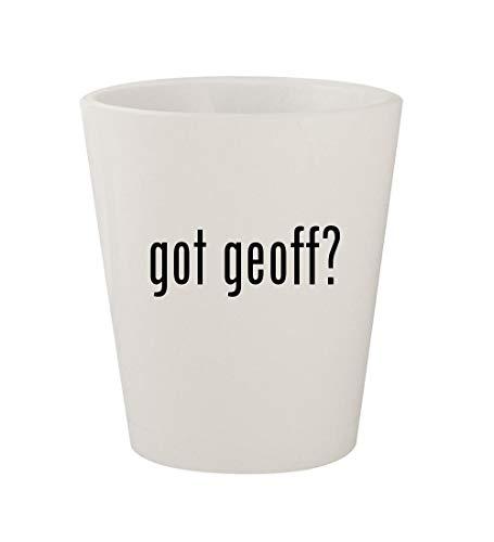 got geoff? - Ceramic White 1.5oz Shot Glass -