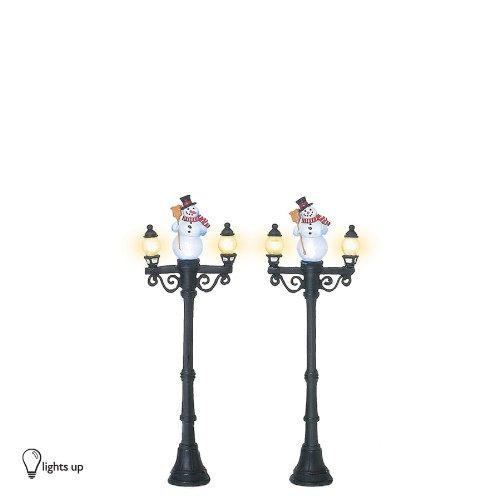 Department 56 Accessories for Villages Miniature Snowman Street Light Display Piece (Set of (Department 56 Halloween Village Pieces)