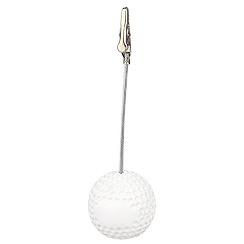 5Pcs Sport Game Ball Stand Alligator Wire Memo Photo Clip Holder,Table Place Card Holder,Sport Event Display,Wedding Party Favor Fusheng (Golf Ball Shape) ()