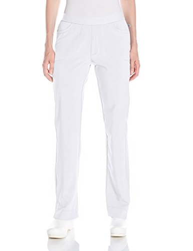 (Cherokee Women's Infinity Low Rise Slim Pull-on Pant, White, X-Small Tall )