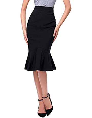 d4362b5fa6098a Kate Kasin Women's OL Casual Mermaid Hips-Wrapped Pencil Skirts