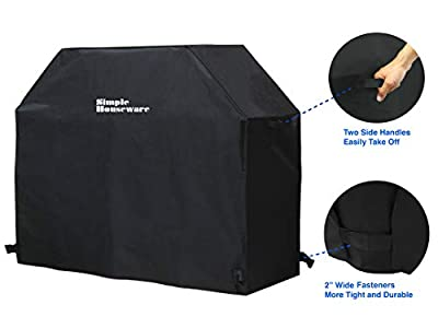 Simple Houseware 58-inch Waterproof Heavy Duty Gas BBQ Grill Cover, Weather-Resistant Polyester
