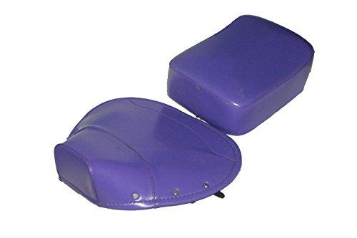 Vespa Seat Rear - RS Vintage Parts RSV-B00ZFS5BEM-00221 Pair Front Rear Seat Cover Vespa Sattel Sitzkissen Set VBB/Super/PX/Rall Purple