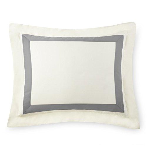E.Elana Portofino Pillow Sham (Gray, Standard Queen)