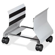 Mobile CPU Stand,4 Casters,Adjustable,8''''x9''''x9-1/2'''',PM, Sold as 1 Each