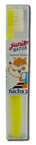 Fuchs Toothbrushes Pure Natural (Boar) Bristle Natur Jr. Child's Medium (Pack of 5) (Toothbrush Jr Kids)