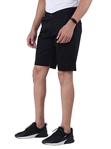 Affray Men #39;s Solid Black Chino Shorts