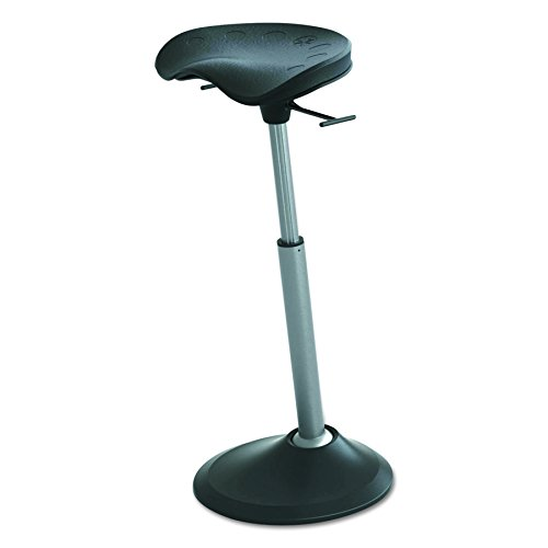 Active Collection FFS-2000-BK Mobis II Stand-up Leaning Seat , Matte Black by Focal Upright