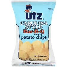 UTZ Carolina Style Barbeque Potato Chips 3.5 Ounces (Pack of 12) South Carolina Chip