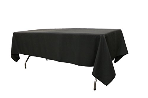 Your Chair Covers Polyester Tablecloths, Black, 60' x 102' Rectangular