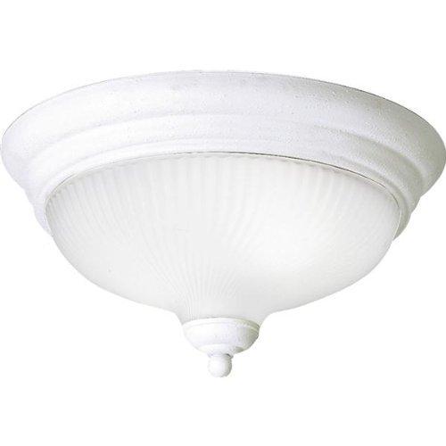 Melon Glass Collection - Progress Lighting P3547-30EBWB Swirled Glass Collection 2-Light Flushmount, White